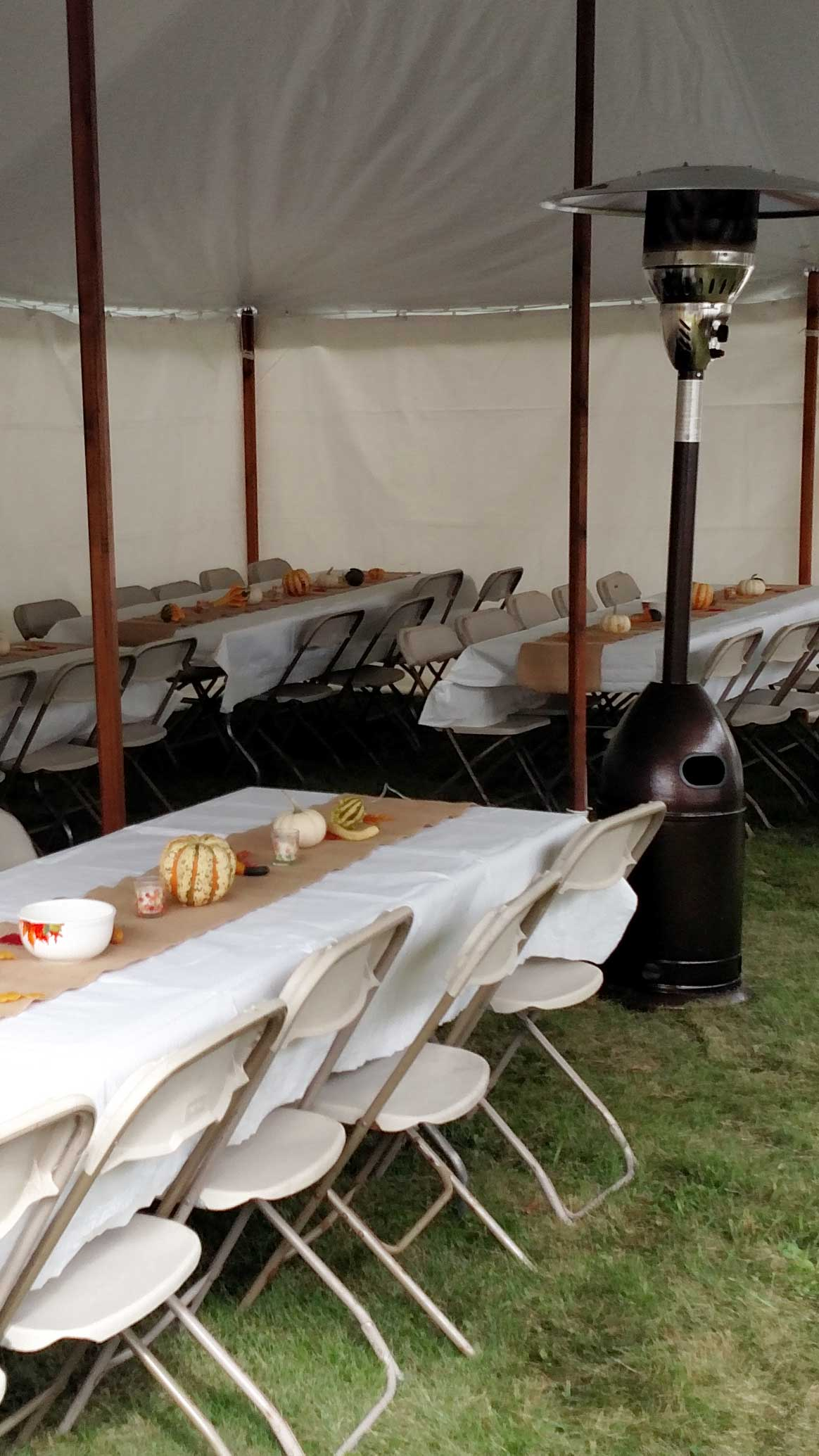 Picture of Erbe Tent Rentals tent heater at party in Schuylerville, NY